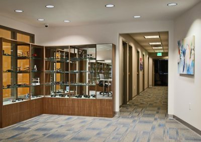 Vision Institute Downtown display case