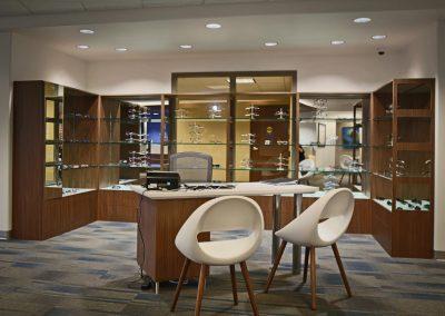 Vision Institute Downtown optician desk