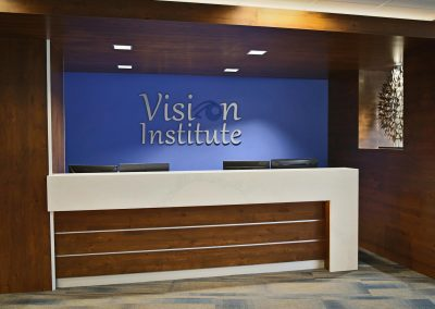 Vision Institute Downtown reception desk