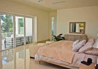 Florida Contemporary - master bedroom