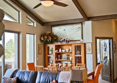 Spruce Mountain great room dining