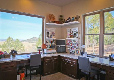 Spruce Mountain office craft room