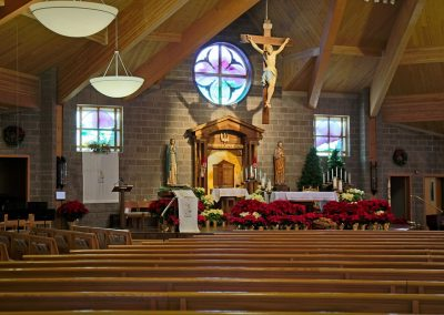 St. Peter sanctuary pews & altar