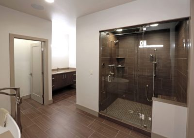 Urban Living: master bath with double shower