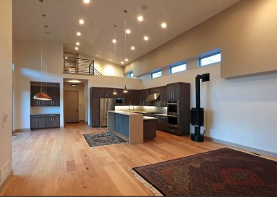 Urban Living: kitchen & open living space
