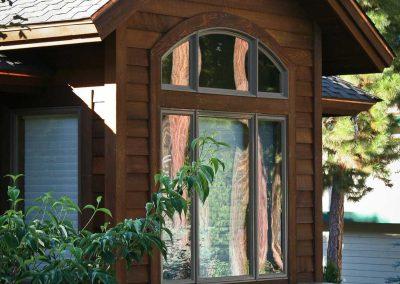Mountain Rustic: master bath exterior