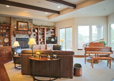 Economic Elegance: great room with piano