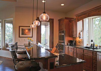 Economic Elegance: kitchen with deck access