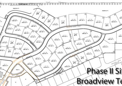 Broadview Terraces: Phase II site plan