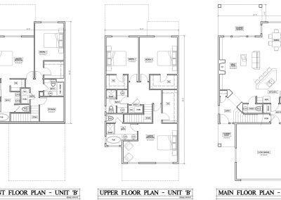 Uintah Bluffs: unit B floor plans