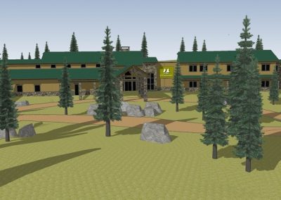Ponderosa Retreat Center - concept 3D model