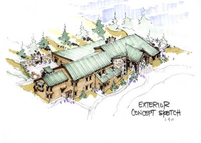 Ponderosa Retreat Center - concept sketch