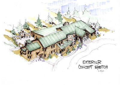 Ponderosa Retreat Center - concept sketch