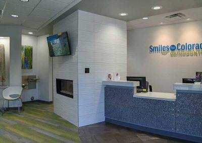 Smiles For Colorado - reception, waiting area TV & fireplace