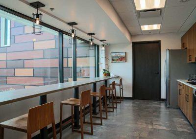 Bank of San Juans staff room & kitchen